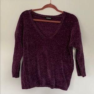 Chenille crop sweater
